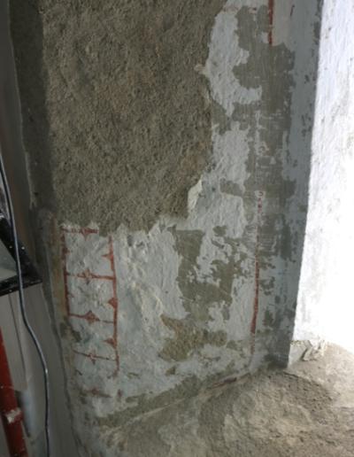 Spodná časť okna-interiér- stav po vytmelení a príprave podkladu