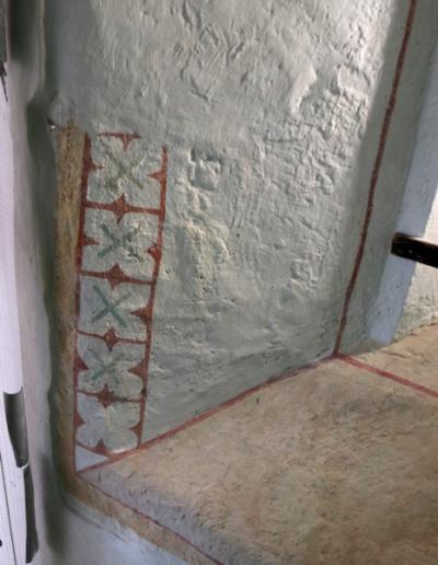 Spodná časť okna-interiér-stav po retuši a reštaurovaní