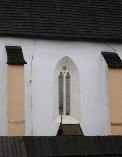 Celkový pohľad  na obnovenú časť okna